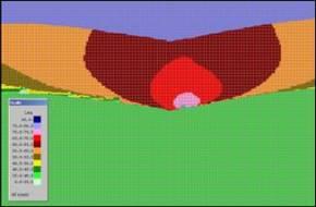 noise contour cross section