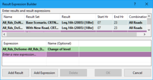 Creating an expression to calculate the change of noise level